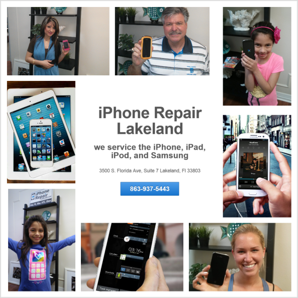 we repair the apple iPhone, iPad, iPod right here in Lakeland and Polk County, FL